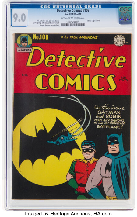 Detective Comics #108 (DC, 1946) CGC VF/NM 9.0 Off-white to white pages....
