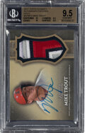 Baseball Cards:Singles (1970-Now), 2017 Topps Dynasty Mike Trout Autograph Patches Gold #AP-MT3 BGS Gem Mint 9.5, Auto 10 - Serial Numbered 5/5. ...