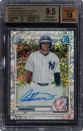 Baseball Cards:Singles (1970-Now), 2020 Bowman Chrome Prospect Autograph Speckle Refractor Jasson Dominguez #CPA-JDO BGS Gem Mint 9.5, Auto 10 - Serial Numbered...