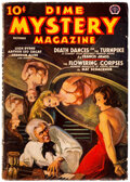 Pulps:Horror, Dime Mystery Magazine - October 1938 (Popular) Condition: VG+....