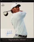 Autographs:Sports Cards, Tiger Woods Signed Upper Deck Signature Shots. ...