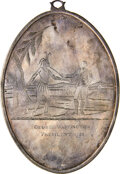 1793 George Washington President Oval Engraved Indian Peace Medal, Silver, By Joseph Loring , Baker 174T, Belden 7-B, Pr...