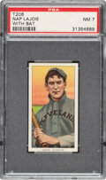 Baseball Cards:Singles (Pre-1930), 1909-11 T206 Sweet Caporal 350-460/42OP Napoleon Lajoie (With Bat) PSA NM 7 - The Highest PSA-Graded factory 42 Overprint. ...