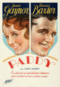 "Movie Posters:Drama, Paddy the Next Best Thing (Fox, 1933). Folded, Very Fine/Near Mint. Swedish One Sheet (27.5"" X 39.5"") Alternate Title: Pad..."