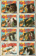 """Movie Posters:Action, The Air Legion (FBO, 1928). Overall: Very Fine-. Lobby Card Set of 8 (11"""" X 14"""").. ... (Total: 8 Items)"""