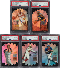 """1996 & 1997 Skybox E-X2000 """"A Cut Above"""" PSA Graded Collection (5)"""