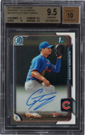 Baseball Cards:Singles (1970-Now), 2015 Bowman Chrome Prospects Gleyber Torres (Autographs) #BCAP-GT BGS Gem Mint 9.5, Auto 10....