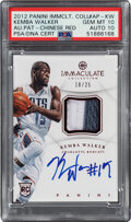 Basketball Cards:Singles (1980-Now), 2012 Panini Immaculate Collection Kemba Walker Chinese Red Autograph Patch #AP-KW PSA Gem Mint 10, Auto 10 - Serial Numbered 1...