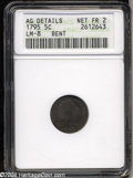 Early Half Dimes: , 1795 H10C --Bent--ANACS. AG Details, Net Fair 2. V-5, LM-8,...
