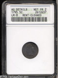 Early Half Dimes: , 1795 H10C --Bent, Cleaned--ANACS. AG Details, Net Fair 2. ...