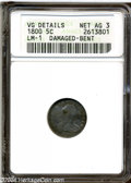 Early Half Dimes: , 1800 H10C --Damaged, Bent--ANACS. VG Details, Net AG3. V-1,...