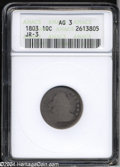 Early Dimes: , 1803 10C AG3 ANACS. JR-3, R.4. STATES and AMERICA are ...