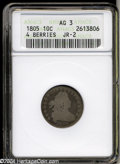 Early Dimes: , 1805 10C 4 Berries AG3 ANACS. JR-2, R.2. The most common ...