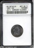 Early Dimes: , 1807 10C --Damaged, Cleaned--ANACS. VG Details, Net AG3. ...