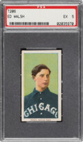 Baseball Cards:Singles (Pre-1930), 1909-11 T206 Old Mill Ed Walsh PSA EX 5 - Only Seven Confirmed Examples for Brand. ...