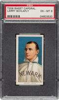 Baseball Cards:Singles (Pre-1930), 1909-11 T206 Sweet Caporal 350/30 Larry Schlafly PSA EX-MT 6. ...