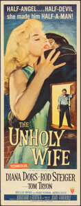 """Movie Posters:Crime, The Unholy Wife (RKO, 1957). Rolled, Fine/Very Fine. Insert (14"""" X 36""""). Crime.. ..."""