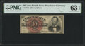 Fractional Currency:Fourth Issue, Fr. 1374 50¢ Fourth Issue Lincoln PMG Choice Uncirculated 63 EPQ.. ...