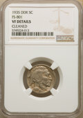 Buffalo Nickels, 1935 5C Doubled Die Reverse, FS-801, -- Cleaned -- NGC Details. VF Details....