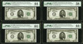 Fr. 1952-A $5 1928B Federal Reserve Notes. Eight Consecutive Examples. PMG Graded. ... (Total: 8 notes)