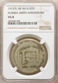 1913 Medal Discovery of Florida 400th Anniversary, Silver-Plated Bronze, HK-661A, R.5, VG8 NGC. NGC Census: (1/40). PCGS...