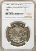 So-Called Dollars, 1906 Medal San Francisco Earthquake, Silver-Plated, HK-340a, R.6, MS61 NGC. NGC Census: (7/3). ...