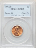 Lincoln Cents, 1974-S 1C MS67 Red PCGS. PCGS Population: (52/0). NGC Census: (2/0). CDN: $690 Whsle. Bid for NGC/PCGS MS67. ...