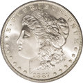 Morgan Dollars: , 1887-O $1 MS66 PCGS. Brilliant and sharply struck with frosty silver luster and no trace of t...