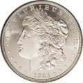 Proof Morgan Dollars: , 1921 $1 Zerbe Special Strike MS65 PCGS. An amazing Gem withprooflike surfaces creating cameo...