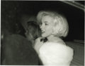 Movie/TV Memorabilia:Photos, Marilyn Monroe Picture and Negative. This profile shot, taken byIrv Steinberg, shows a radiant Marilyn, smiling in her limo...