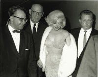 "Marilyn Monroe Picture and Negative. This Irv Steinberg picture shows Marilyn and her ""entourage"" departing Ma..."