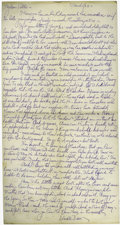 Movie/TV Memorabilia:Autographs and Signed Items, Edward Van Sloan Handwritten Personal Letter. Edward Van Sloan(1881-1964), revered for his powerful force-for-good performa...