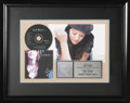 "Music Memorabilia:Awards, Sarah McLachlan ""Fumbling Towards Ecstasy"" Platinum CD Award.Presented to June Colbert to commemorate the sale of one milli..."