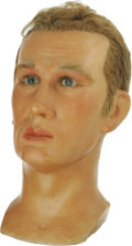 Movie/TV Memorabilia:Memorabilia, James Dean Wax Head. A wax replica of Dean from a display at ConeyIsland's now shuttered The World In Wax Museum, founded b...