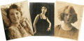 "Movie/TV Memorabilia:Autographs and Signed Items, Female Stars Autographs Group of Three. This trio of signedportraits includes a 6.5"" x 9.5"" of Betty Compson (star of 1928'...(Total: 1 Item)"