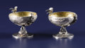 Silver Holloware, American:Open Salts, A Pair of American Silver and Silver Gilt Salts. Unknown maker,American. Circa 1880-1900. Silver and silver gilt. Marks: ...