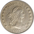 Early Half Dollars: , 1803 50C Small 3--Improperly Cleaned--NCS. AU Details. O-104, R.3.The Small 3 is certainly scarcer than its Large 3 counte...