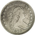 Early Half Dollars: , 1806 50C Pointed 6, Stem--Cleaned--ANACS. VF20 Details. O-124, R.6.This is the very rare variety with the E over A in STAT...