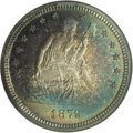 Proof Seated Quarters: , 1879 25C PR66 NGC. Type Two Reverse. Because the Philadelphia Mintwas obligated to strike silver dollars in great quantity...