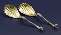 Silver Flatware, American:Tiffany, A Pair of American Silver and Silver Gilt Serving Spoons. Tiffany& Co., New York, New York. Circa 1854-1869. Silver and s...(Total: 2 )