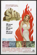 "Movie Posters:Adventure, She (MGM, 1965). One Sheet (27"" X 41""). Fantasy Adventure. StarringUrsula Andress, Peter Cushing, Bernard Cribbins, John Ri..."