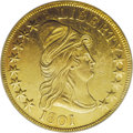 Early Eagles: , 1801 $10 --Damaged--NCS. AU Details. Breen-6843, Taraszka-25, BD-2,R.2. This generally lustrous early gold type coin is spl...
