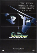 "Movie Posters:Adventure, The Shadow (Universal, 1994). One Sheet (27"" X 40"") Advance. ComicBook Action. Starring Alec Baldwin, Peter Boyle, Penelope..."