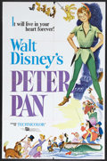 "Movie Posters:Animated, Peter Pan (RKO, R-1969). One Sheet (27"" X 41""). Animated Adventure.Starring the voices of Bobby Driscoll, Kathryn Beaumont,..."