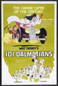 "Movie Posters:Animated, 101 Dalmatians (Buena Vista, R-1979). One Sheet (27"" X 41"").Animation. Starring the voices of Rod Taylor, J. Pat O'Malley, ..."