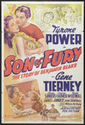 "Movie Posters:Adventure, Son of Fury (20th Century Fox, 1942). One Sheet (27"" X 41"").Adventure...."