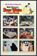 "Movie Posters:Animated, Snow White and the Seven Dwarfs (Buena Vista, R-1967). One Sheet(27"" X 41"") Style B. Animation. Starring the voices of Roy ..."