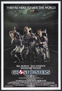 "Ghostbusters (Columbia, 1984). One Sheet (27"" X 41""). Science Fiction Comedy. Starring Bill Murray, Dan Aykroy..."