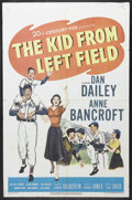 "Movie Posters:Sports, The Kid from Left Field (20th Century Fox, 1953). One Sheet (27"" X 41""). Sports. Starring Dan Dailey, Anne Bancroft, Billy C..."