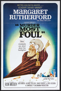 """Murder Most Foul (MGM, 1964). One Sheet (27"""" X 41""""). Crime Comedy. Starring Margaret Rutherford, Ron Moody, Ch..."""